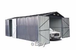 abri de jardin en metal garage de stockage exterieur garage voiture atelier de moto 5x3m
