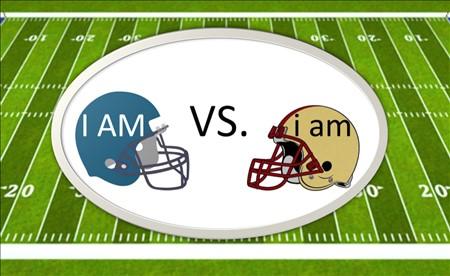 I AM vs i am