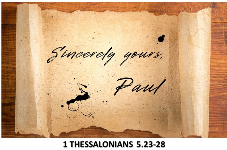 Sincerely Yours, Paul