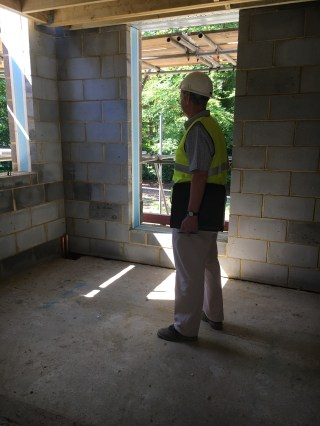 Chris - Architect inspecting the work
