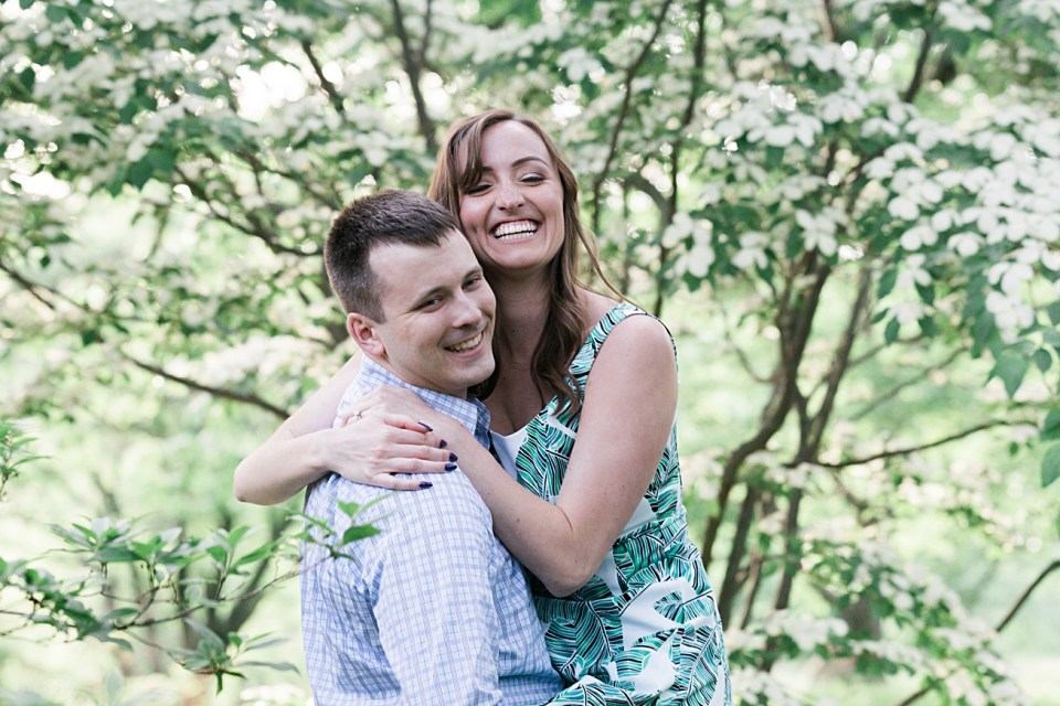 Happy, Fun, Relaxed Couple   Engagement Session   Boston