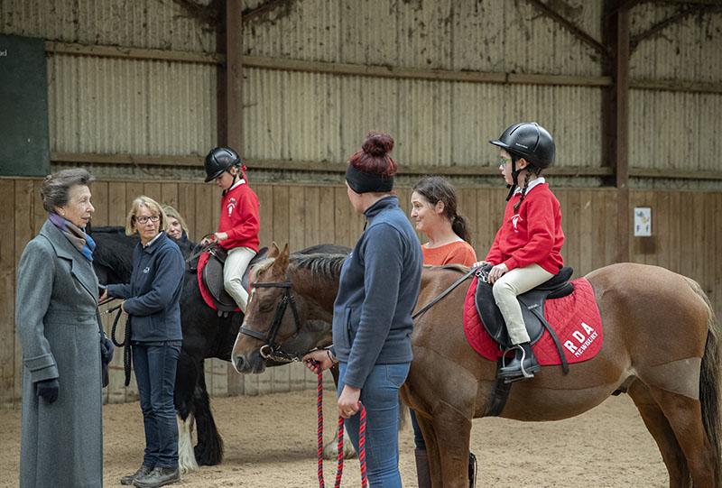 HRH talking to rider, Maeve Norfolk