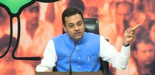 bjp spokeperson sambit patra at bjp headquaters in new delhi
