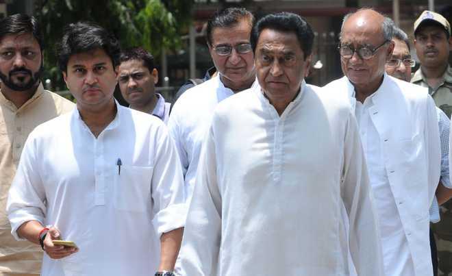 madhya pradesh congress leaders including kamalnath and jyotiraditya scindia and digvijay singh