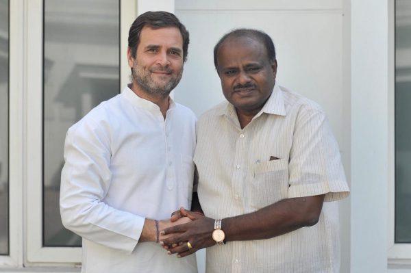 Image of congress president rahul gandhi and cm of karnataka hd kumaraswamy
