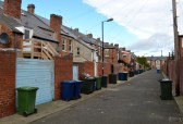 Heaton: Tyneside flats with enclosed rear yards (Feb 2014) CC BY-NC-ND 4.0