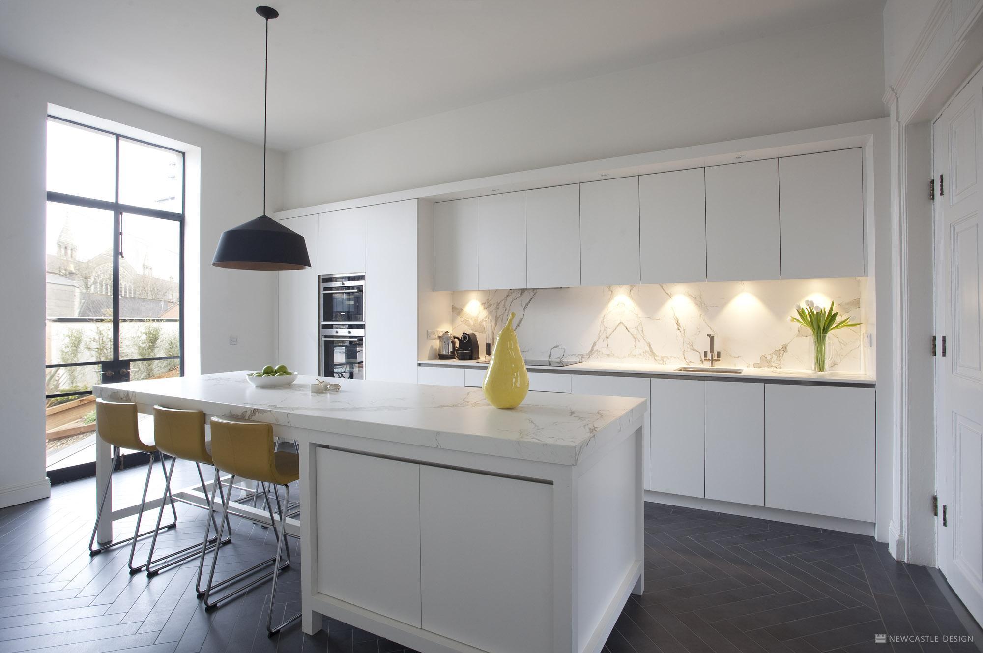 Contemporary Georgian Kitchen in Ireland from Newcastle Design on Modern Kitchen  id=83653