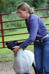 Morgan Beane won first place in the sheep and second place in the goat non-owner showmanship classes. She also was first-place with her heifer Rona in the junior heifer class in the beef division.