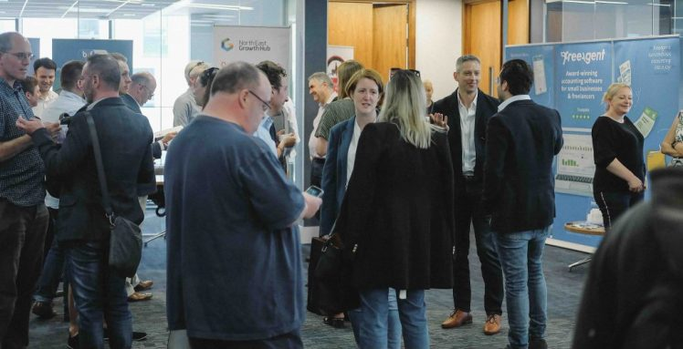 Newcastle Startup Week networking at Barclays