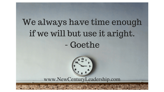 We always have enough time
