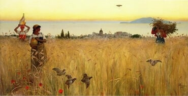 Women in the Wheat Fields, by Charles Caryl Coleman