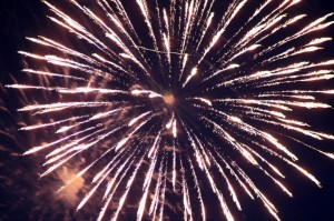 fireworks-with-fuzzes-and-plane-lights-in-background-738921