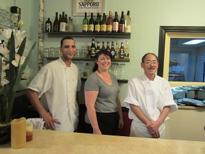 Ned Abdallah, Jaclyn Thomson and Tony Koneko at Yoshino / Photo: John Greenfield