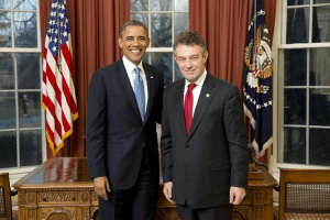 Ambassador Ryszard Schnepf at a White House credentialing ceremony with President Barack Obama, January 14, 2013. Photo: U.S. Dept. of State.