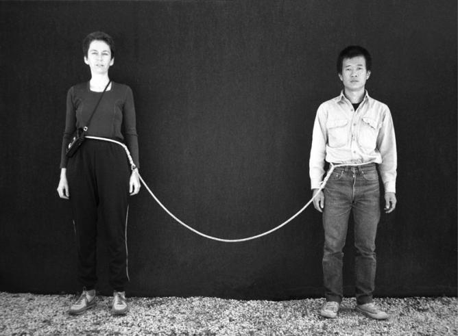 Tehching Hsieh, Linda Montano, Art/Life One Year Performance 1983 –1984 Life image. Copyright © 1984 Tehching Hsieh, Linda Montano. | Courtesy the artists and Sean Kelly Gallery, New York