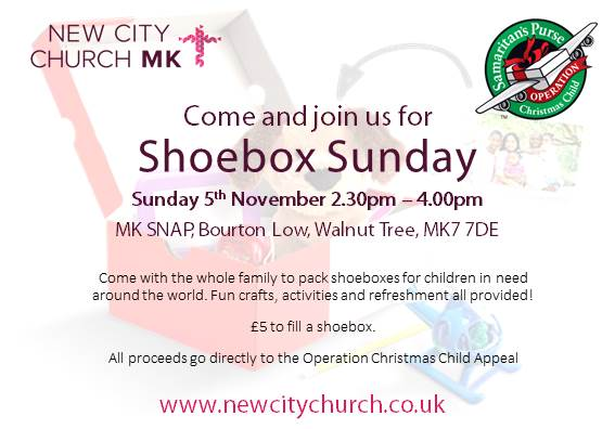 Shoebox Sunday Invite