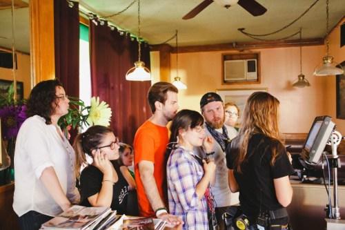 On location at Fullerton Restaurant, September 2013/Photo: Tyler Core