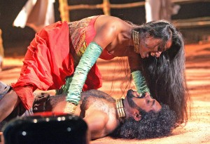 Archana Ramaswamy (Titania) and P R Jijoy (Oberon)