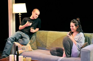 "Stephen Louis Grush and Amy J. Carle in ""Sex with Strangers""/Photo: Mark Campbell"