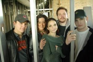 The Thirteen Pocket ensemble: Mark Minton, Laura Rook, Carin Silkaitis, Stephen Grush and Jacob Lorenz