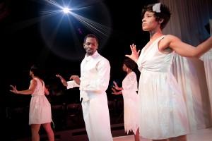 Trinity Murdock with the alleluia angels/Photo: Daniel Nicholas