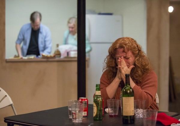 Hannah Dworkin, foreground, with Lance Baker, Kelly O'Sullivan/Photo: Michael Brosilow