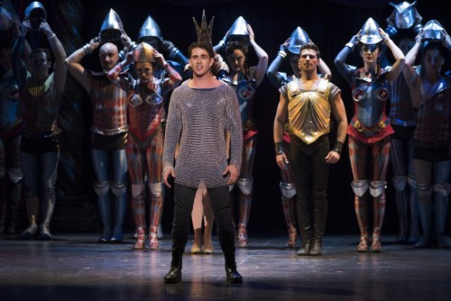 Sam Lipps as Pippin perfoming in Pittsburgh.