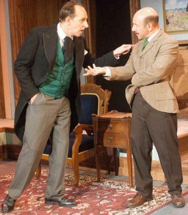 James Sparling (left) as Mr. Sherlock Holmes and Adam Bitterman/Photo: Paul Grigonis