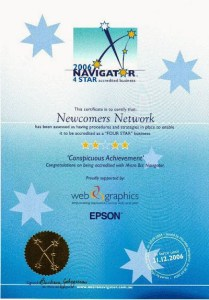Four Star Business Accreditation from Micro Biz Navigator for Newcomers Network