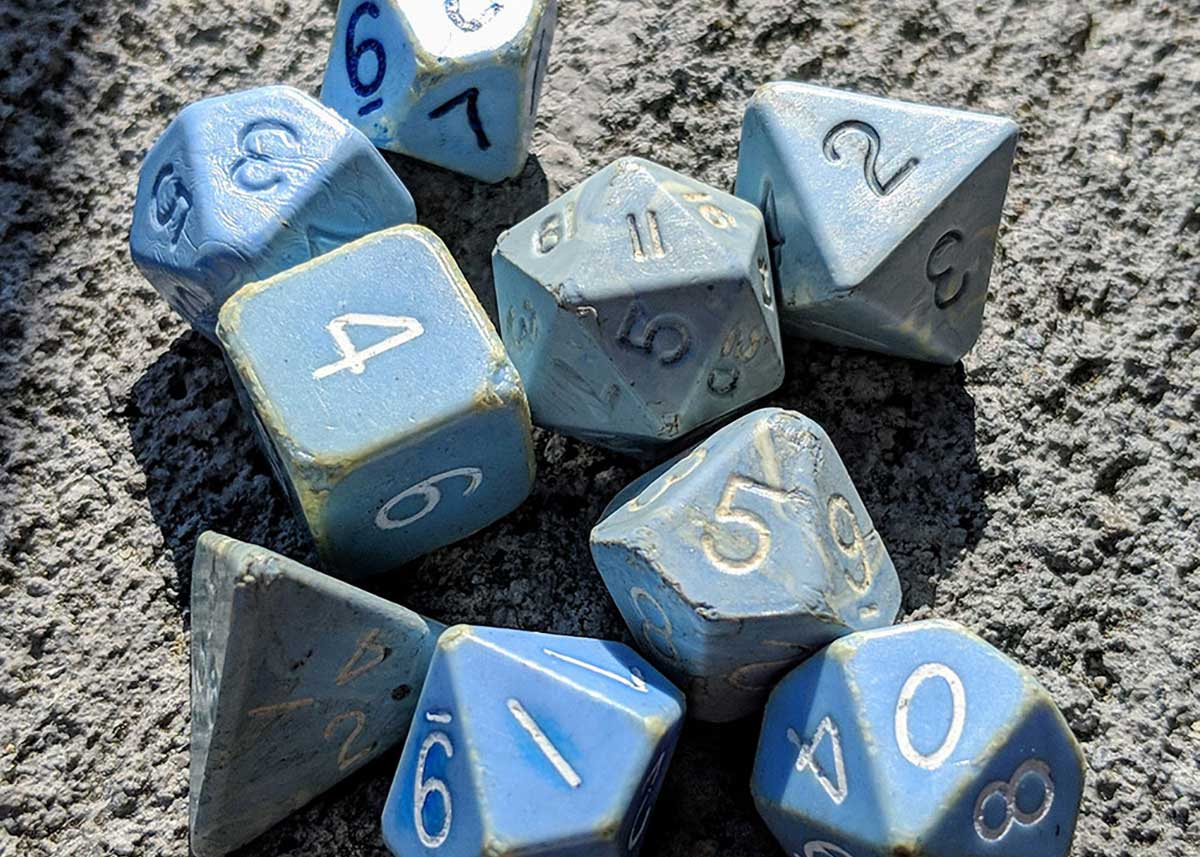 in-person dungeons & dragons dice set