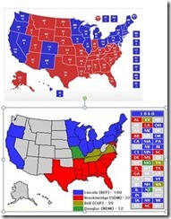 1860 and 2012 Electoral Map