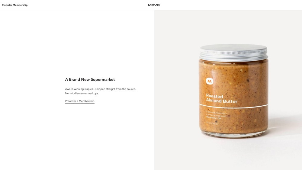 Move grocery almond butter