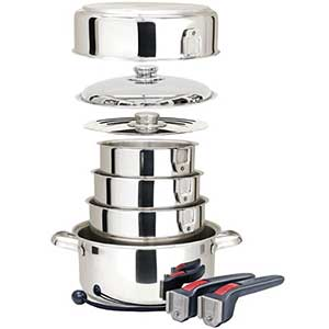 MAGMA 10-Piece Stainless Steel Nesting Cookware (West Marine) Image