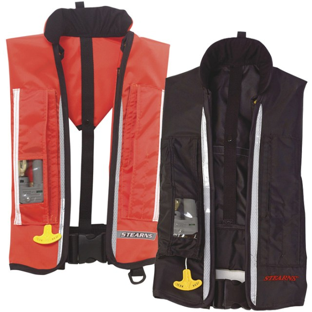 Stearns Inflatable Life Jacket, Orange