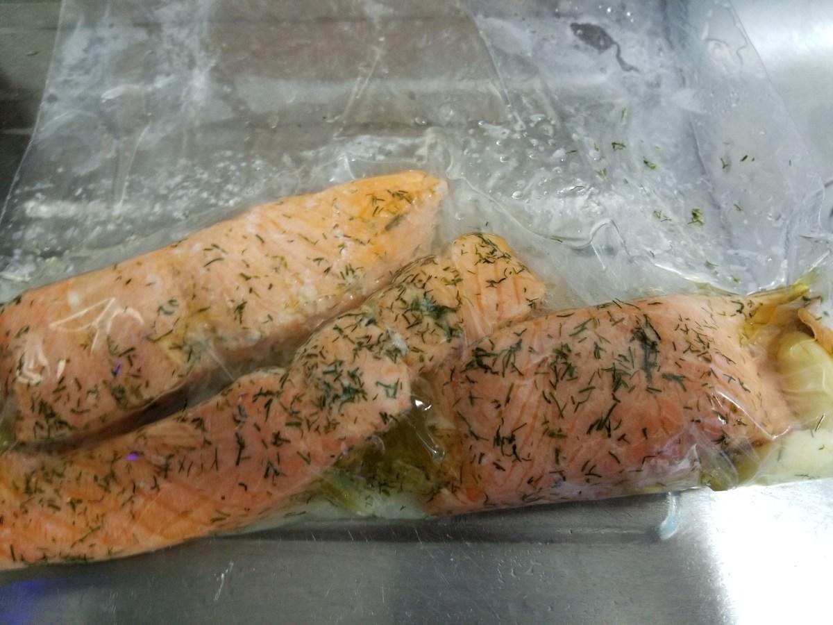 Sous-vide salmon recipe