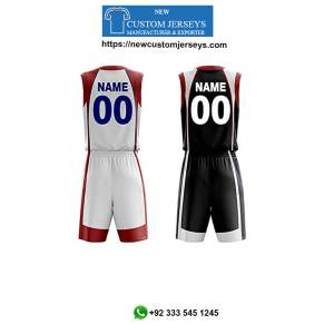 Basketball reversible jerseys with numbers