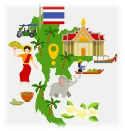Thailand Tourism Icons Set