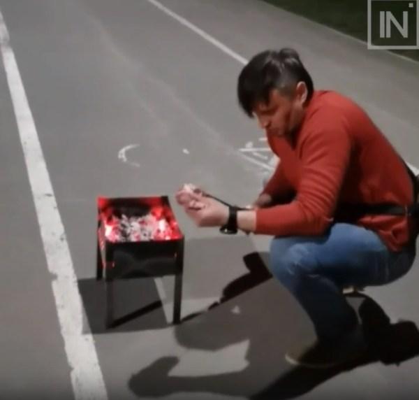МЧС оштрафует мужчину, который жарил шашлыки на детской ...