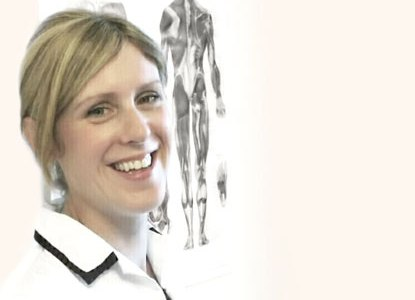 Practitioner Geraldine Morgan-Fahy of New Day Osteopathy at her clinic