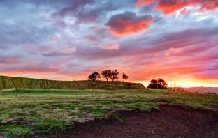 Fiery sunset - Mount Eden, Auckland