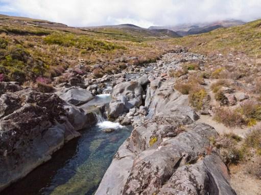 Mountain stream near Whakapapa Village