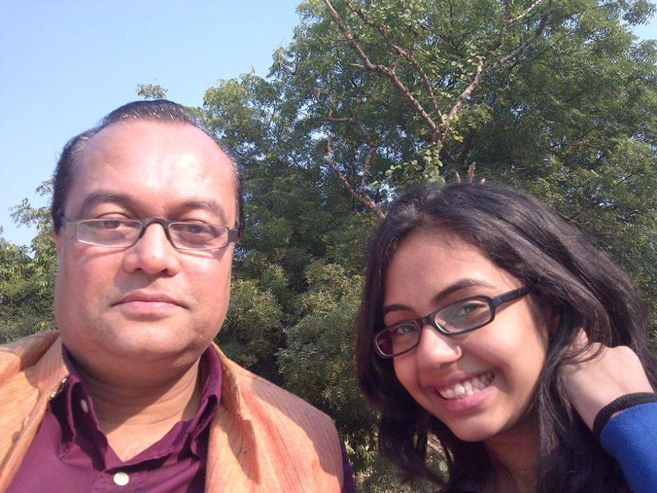 Piya and Joygopal Podder on a sunny morning in India