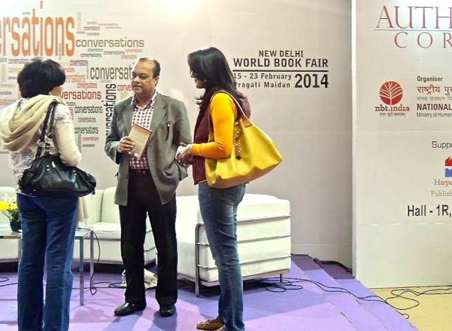 Author and Fans at the New Delhi World Book Fair 2014