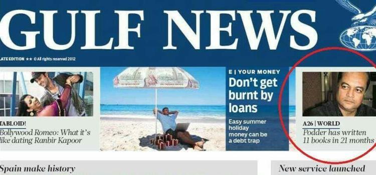 Joygopal Podder in Gulf News