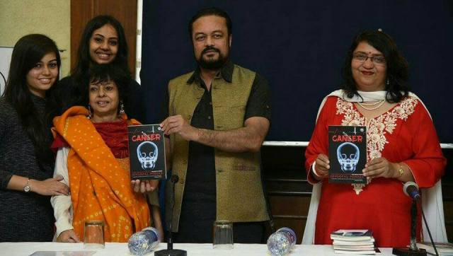 At the book launch with my family