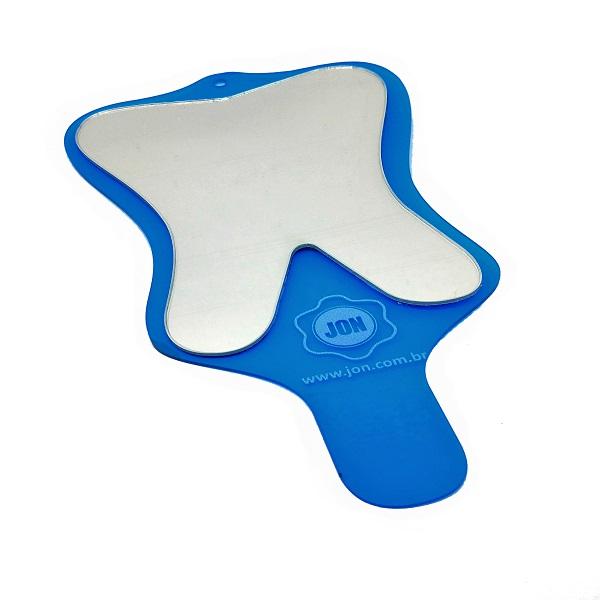 espelho toucador moular com cabo azul