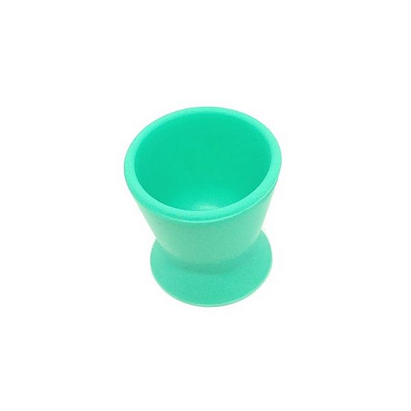 frasco dappen de silicone verde agua pequeno