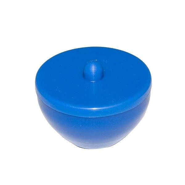 frasco de silicone para manip acrilico azul