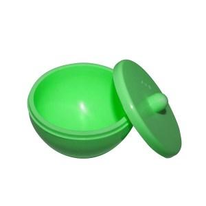 frasco de silicone para manipular acrilico verde fluorescente