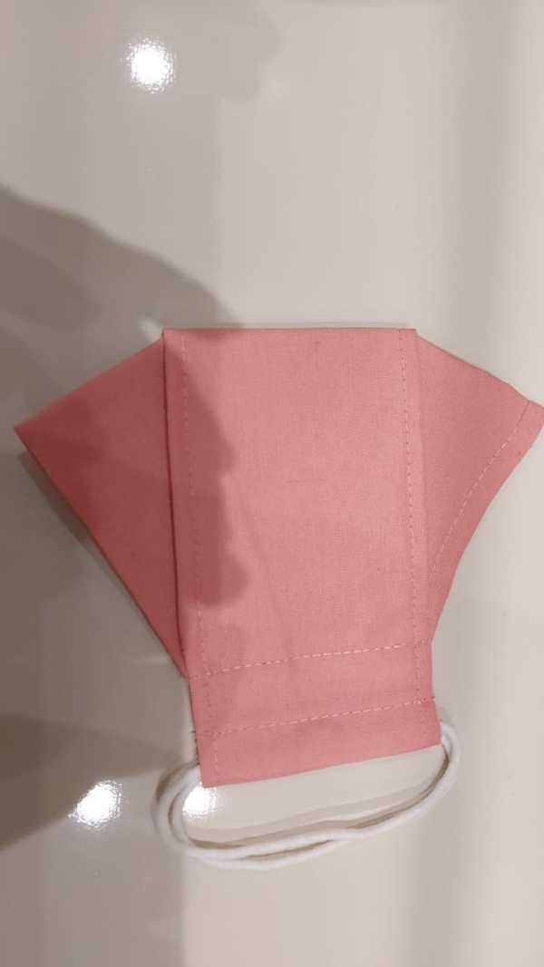 mascaras 3d rosa pink de tecido